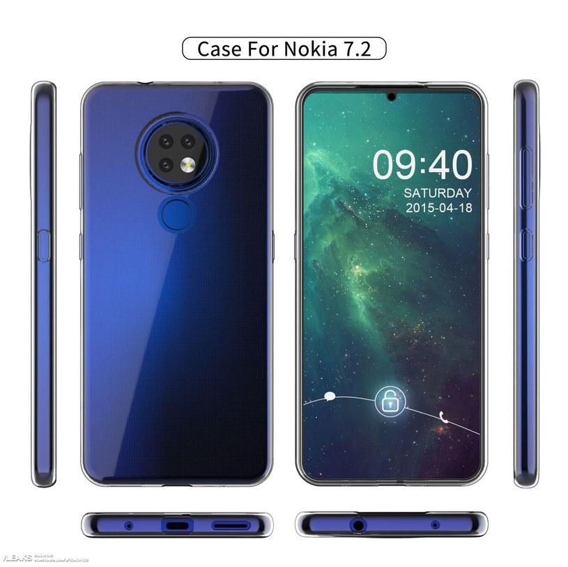 Nokia 7.2 na renderze / fot. SlashLeaks /materiał zewnętrzny