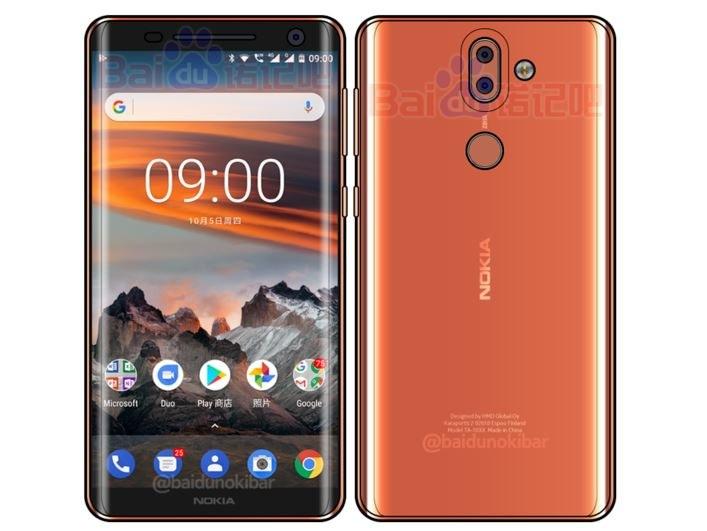 Nokia 9 będzie miała cienkie ramki i zaokrąglony na krawędziach ekran /Baidu /Internet