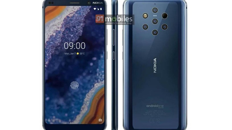 Nokia 9 PureView render / fot. 91Mobiles /materiał zewnętrzny