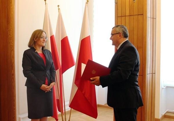 Nominacja Justyny Skrzydło /mib.gov.pl /