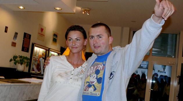 Norbi z żoną /fot.Tomek Piekarski  /MWMedia