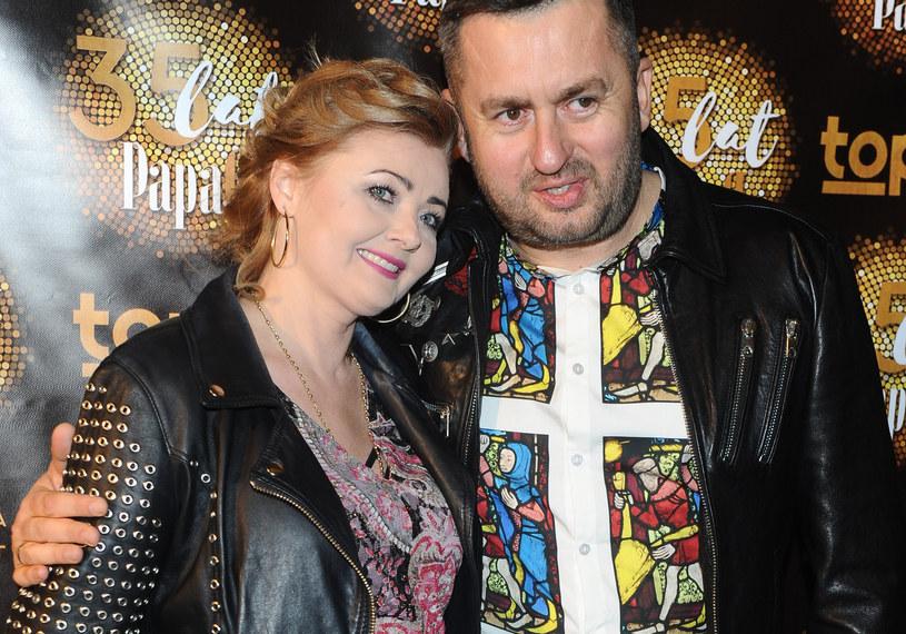 Norbi z żoną, Marzeną /Piotr Andrzejczak /MWMedia