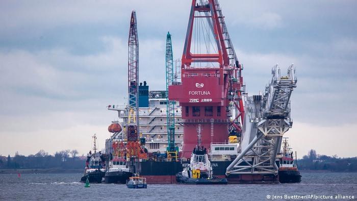 Nord Stream 2 biegnie z rosyjskiego Wyborgu przez Morze Bałtyckie do Lubmina koło Greifswaldu w Meklemburgii-Pomorzu Przednim /Deutsche Welle