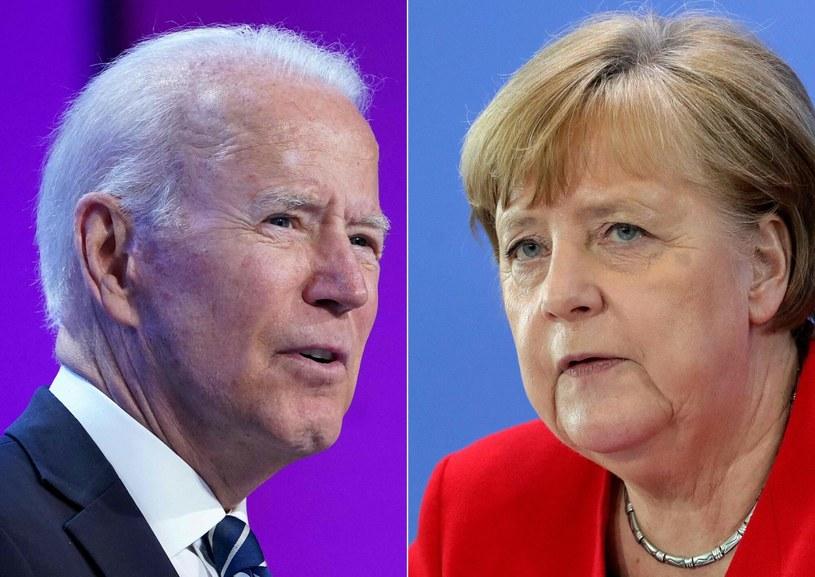 Nord Stream 2: Co ustali Merkel z Bidenem? /MANDEL NGAN/AFP /East News