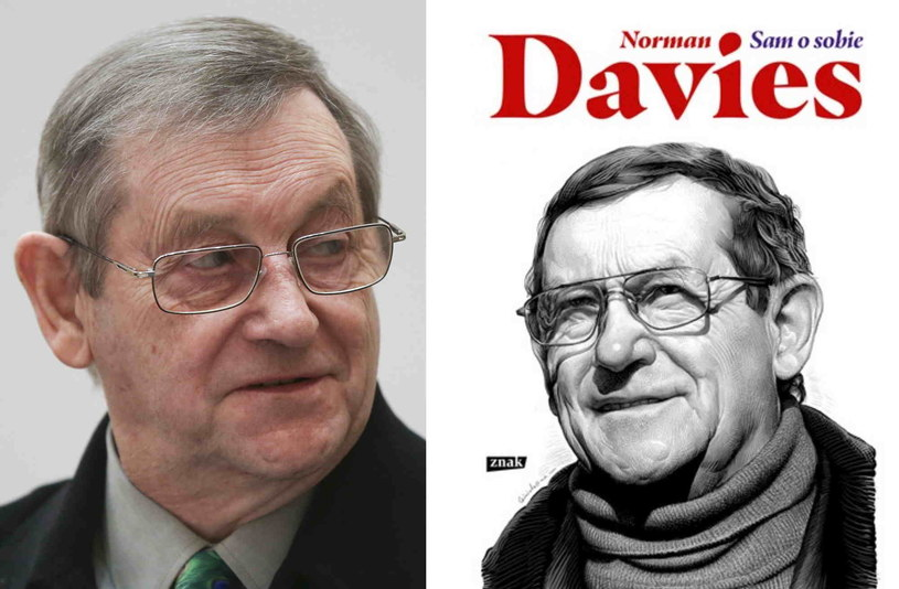 Norman Davies i okładka jego autobiografii /Beata Zawrzel/REPORTER /East News