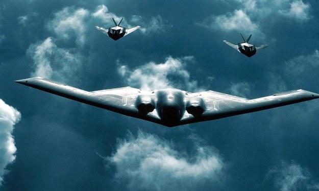Northrop B-2 Spirit w towarzystwie F-117 /AFP