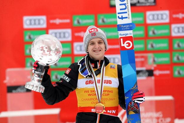 Norweg Halvor Egner Granerud z Kryształową Kulą /Grzegorz Momot /PAP