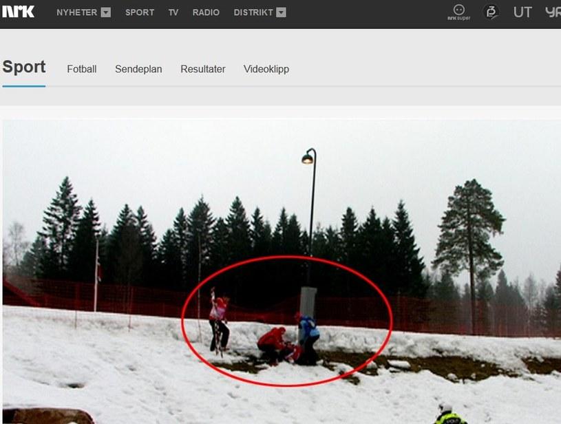 Norweska biegaczka narciarska Astrid Uhrenholdt Jacobsen miała groźny wypadek; źródło: nrk.no /Internet