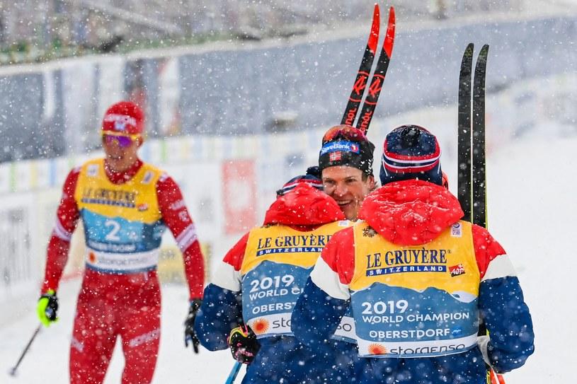 Norweska sztafeta tuż po zwycięstwie /AFP