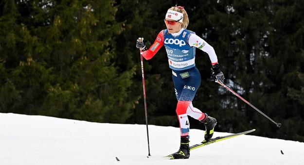 Norweżka Therese Johaug na trasie, Oberstdorf /LUKAS BARTH-TUTTAS /PAP/EPA
