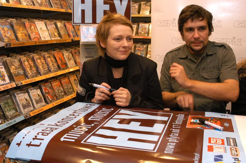 Nosowska z partnerem, rok 2005 /Paweł Boruta /MWMedia