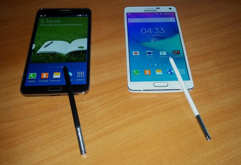 Note 3 (po lewej) i Note 4 - obok siebie /INTERIA.PL