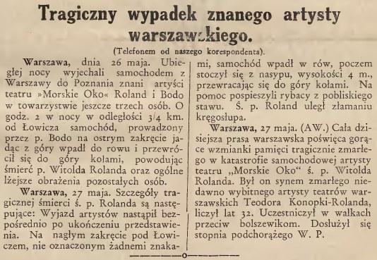 """Notka o wypadku w """"Gazecie Lwowskiej"""" /Biblioteka Narodowa"""