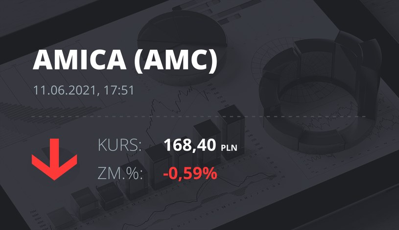 Notowania akcji spółki Amica z 11 czerwca 2021 roku