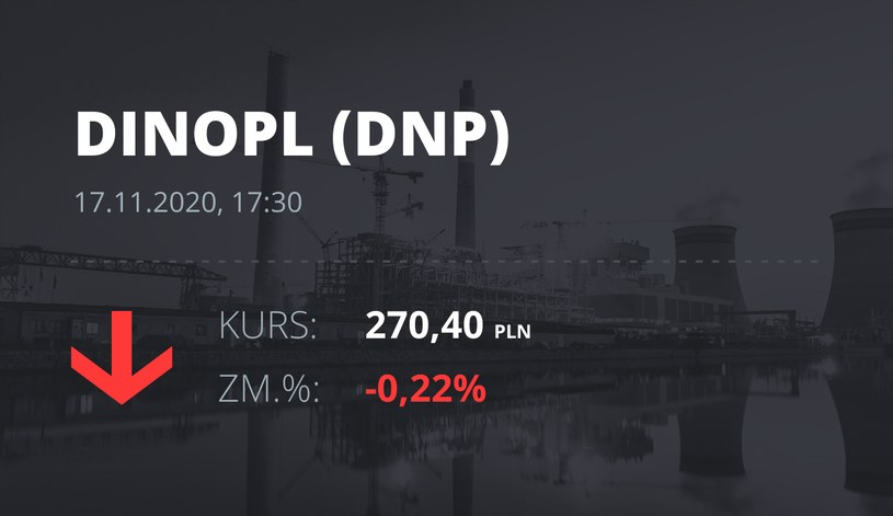 Notowania akcji spółki Dino z 17 listopada 2020 roku