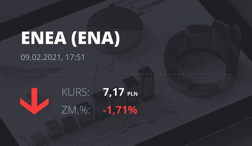 Notowania akcji spółki Enea z 9 lutego 2021 roku