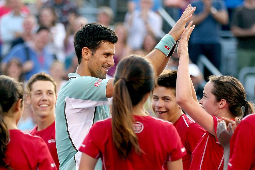 Novak Djoković dobrze się czuje w Montralu. /AFP