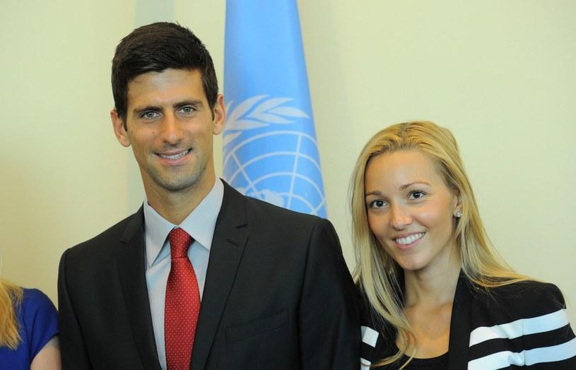 Novak Djoković i Jelena Ristić spodziewają się dziecka /AFP