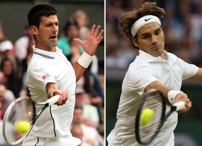Novak Djoković i Roger Federer zmierzą się w finale Wimbledonu /AFP