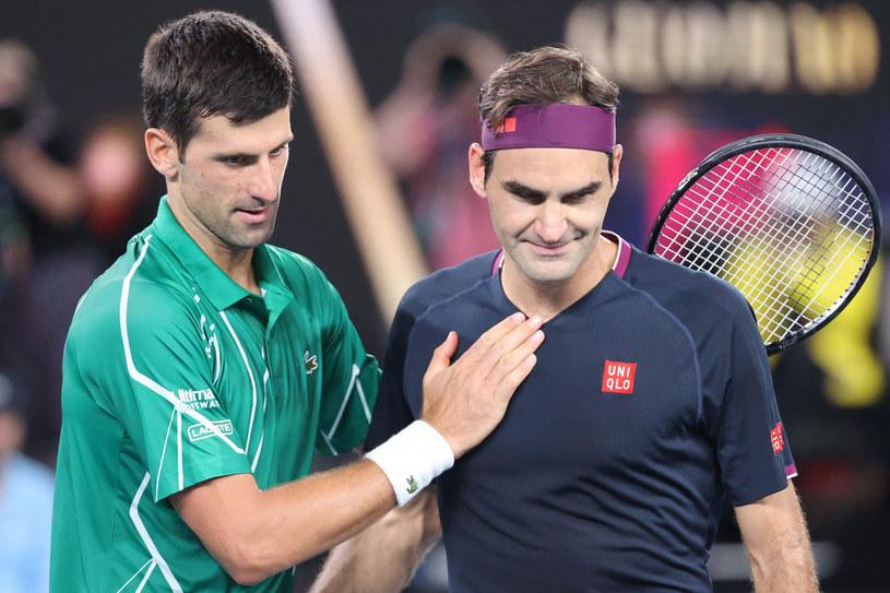 Novak Djoković i Roger Federer /AFP/EAST NEWS /East News
