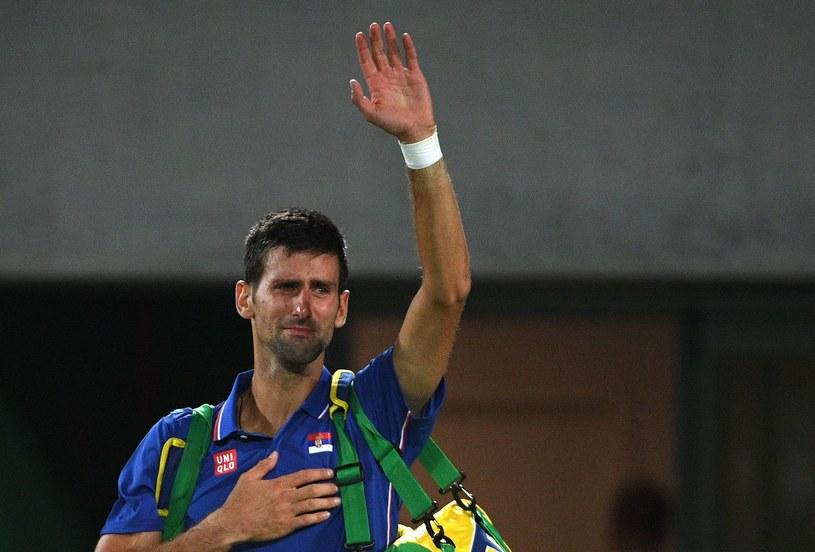 Novak Djoković po odpadnięciu z turnieju olimpijskiego w Rio de Janeiro /AFP