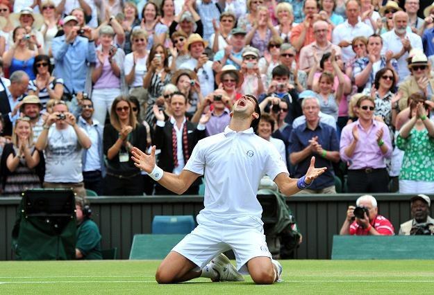 Novak Djoković po wygraniu Wimbledonu /AFP