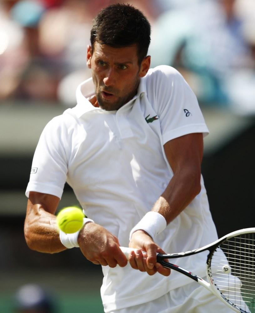 Novak Djoković w 3. rundzie Wimbledonu /PAP/EPA