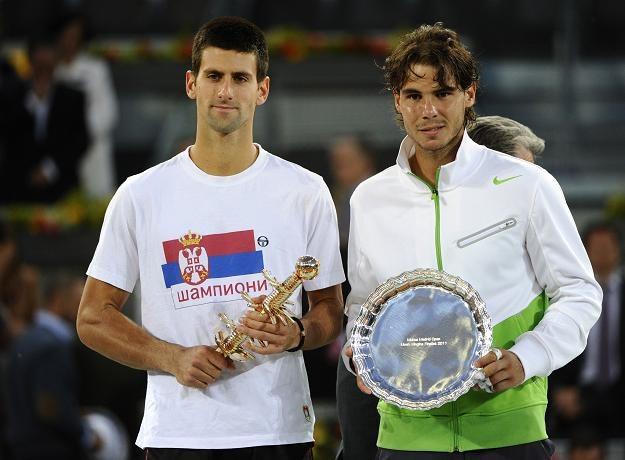 Novak Djoković (z lewej) i Rafael Nadal /AFP