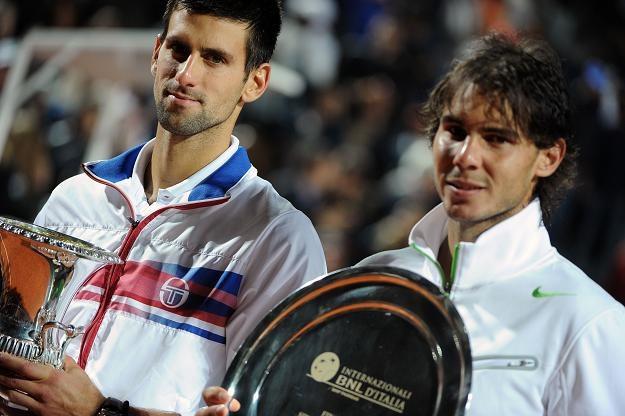 Novak Djokovic (z lewej) i Rafael Nadal /AFP