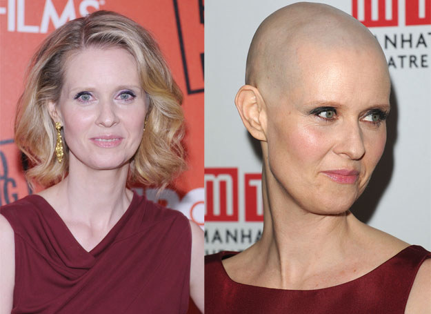 Nowa fryzura Cynthi Nixon była wielkiem zaskoczeniem  /Getty Images/Flash Press Media