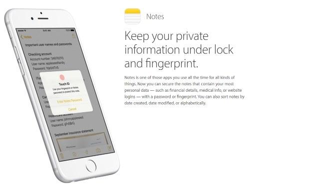 Nowa funkcja Notatek. Fot. Apple /materiały prasowe