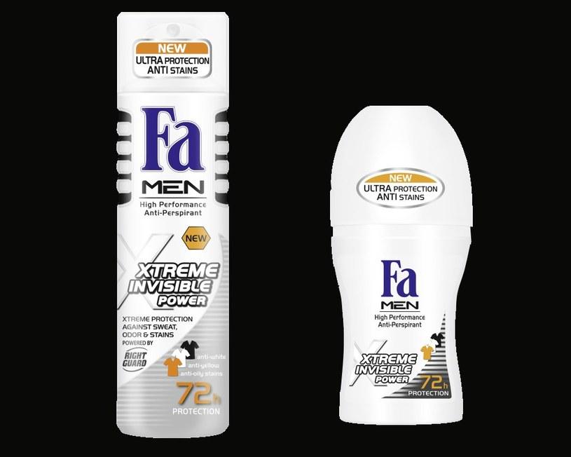Nowa linia dezodorantów Fa MEN xTreme Invisible Power /materiały prasowe