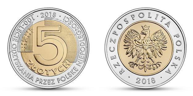 Nowa moneta 5-złotowa - rewers (L) i awers (P) /NBP