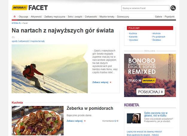 Nowa strona główna serwisu Facet /INTERIA.PL