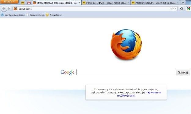 Nowa strona startowa. Minimalistycznie, ale wciąż bez Google Instant /INTERIA.PL