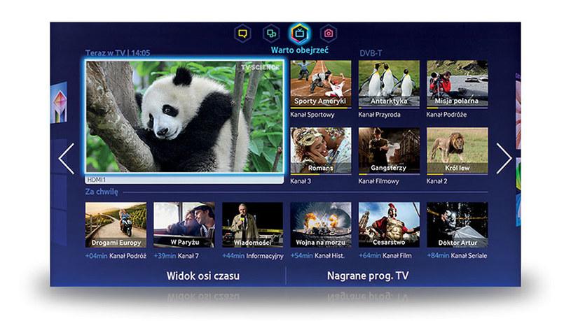 Nowa wersja Smart Hub - to obecnie najlepsza platforma Smart TV, jaką możemy znaleźć w telewizorach dostępnych w Polsce /materiały prasowe