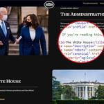 Nowa witryna Białego Domu zawiera ukrytą wiadomość