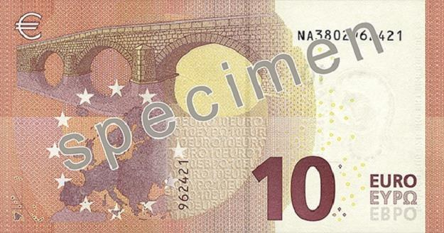 Nowe 10 euro - rewers /