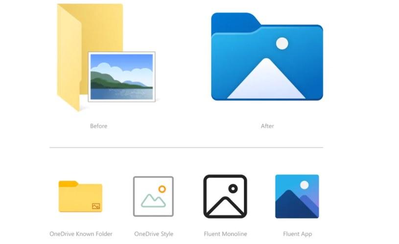 Nowe ikony w Windows 10 / Microsoft /materiały prasowe