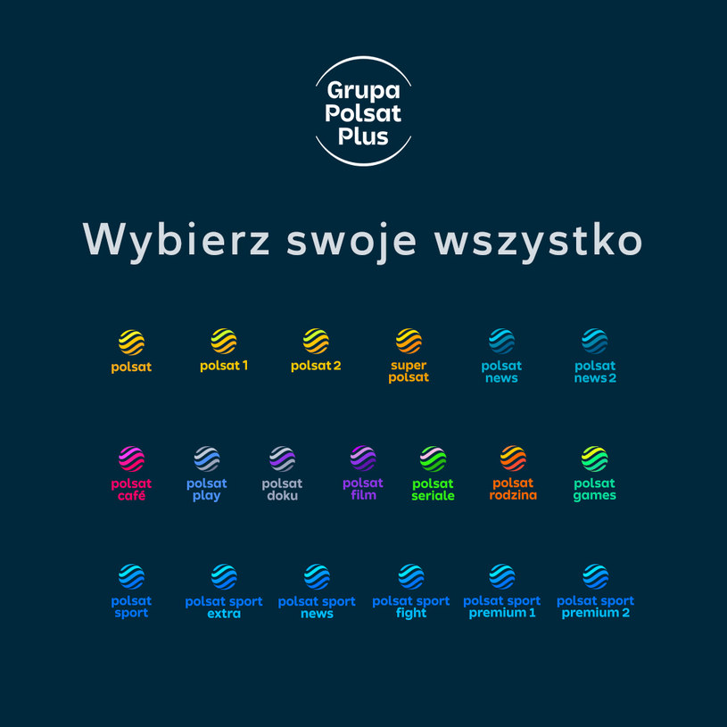 Nowe loga kanałów tematycznych Polsatu /Polsat