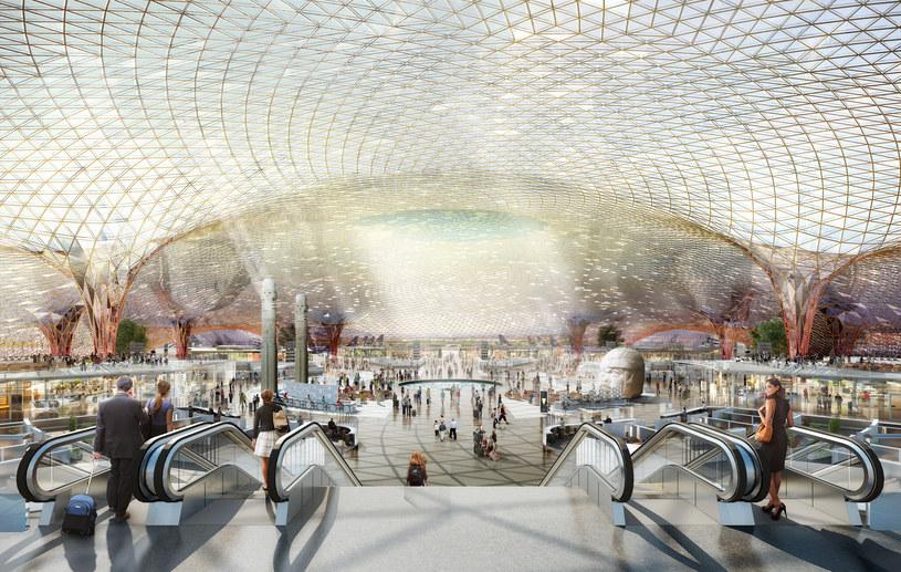Nowe lotnisko w Mexico City ma być jedyne w swoim rodzaju /Fot. Foster + Partners /materiały prasowe
