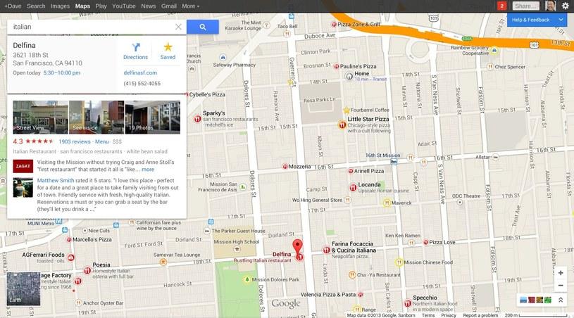 Nowe Mapy Google, to także nowy system rekomendacji, ocen oraz informacji przy, na przykład, wyborze restauracji. Zmieniono wygląd m.in. opcji Wyznacz Trasę /materiały prasowe