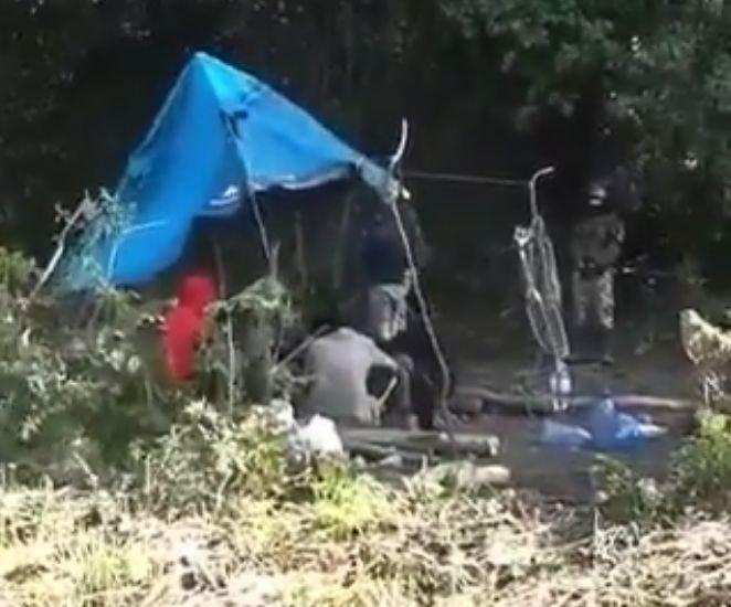 Nowe nagranie z Usnarza Górnego /Straż Graniczna /