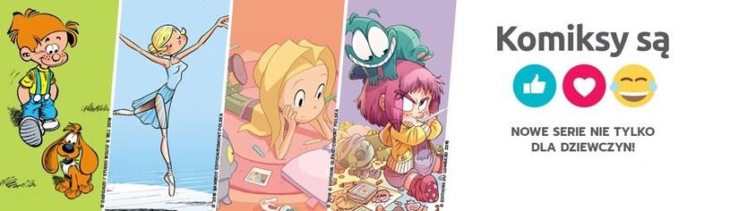 Nowe serie komiksowe dla dzieci /materiały prasowe