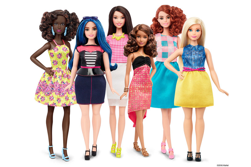 Nowe sylwetki lalek Barbie /Styl.pl/materiały prasowe