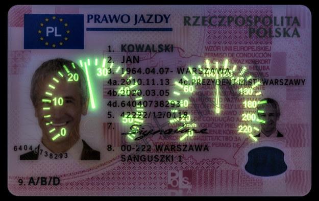 Nowe wzór prawa jazdy /t. A.Tkaczyk / PWPW /