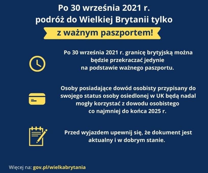 Nowe zasady wjazdu do Wielkiej Brytanii. Od października /Polska Ambasada w Londynie /