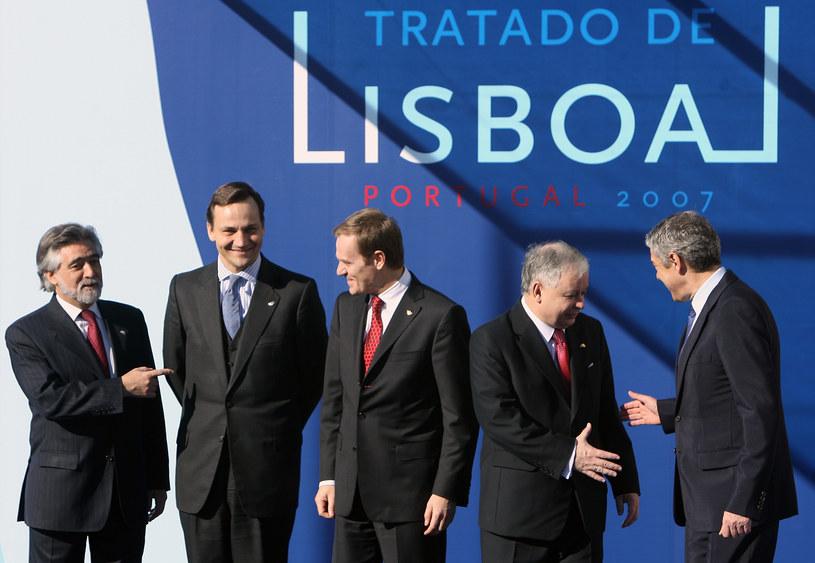 Nowe zasady wprowadza Traktat z Lizbony /AFP