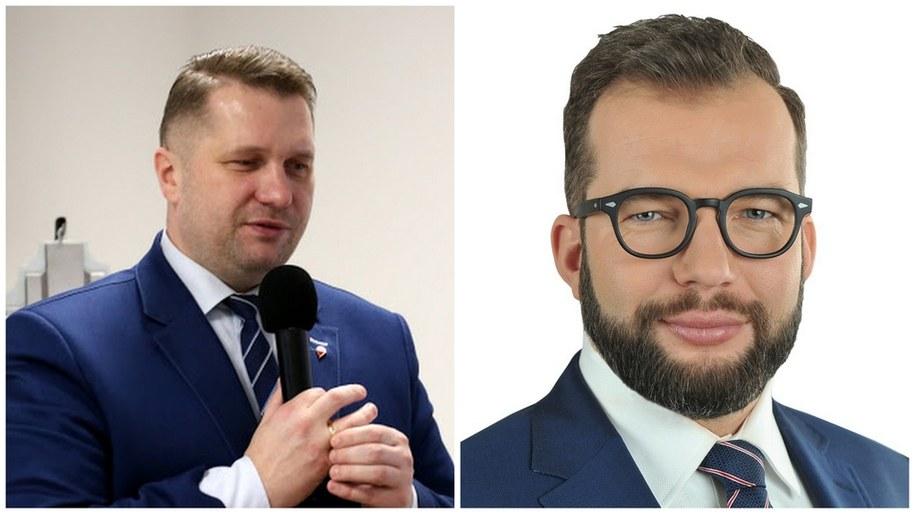 Nowi ministrowie: Przemysław Czarnek i Grzegorz Puda /sejm.gov.pl /