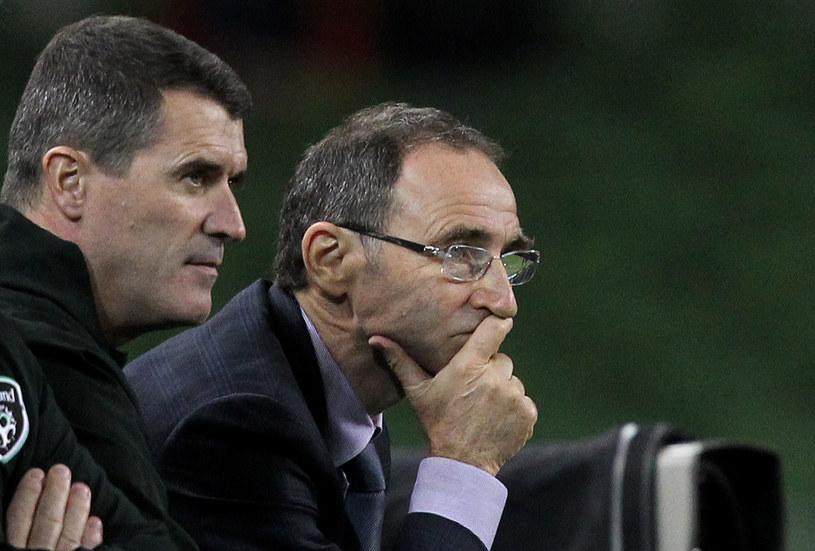 Nowi trenerzy reprezentacji Irlandii Martin O'Neill i jego asystent Roy Keane /AFP